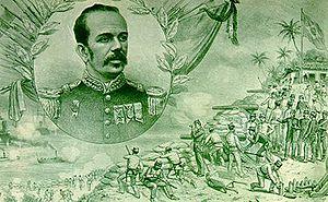 Floriano Peixoto e a Revolta da Armada numa ilustração de Ângelo Agostini