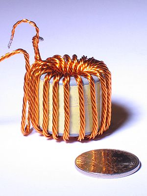 Magnet wire - Stranded copper Litz wire is used for certain high-frequency transformers