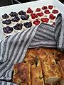 Foccacia bread and mini cheesecakes (20108995718).jpg