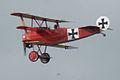 Fokker Dr.I Manfred Richthofen Pass three 07 Dawn Patrol NMUSAF 26Sept09 (14413333699).jpg