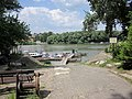 Foot and bike ferry Szigetmonostor - Szentendre. Danube, north of Budapest. Szigetmonostor side. - panoramio.jpg