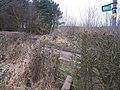 Footpath crosses Birch Wood Lane, near Stede Hill Wood - geograph.org.uk - 1181243.jpg