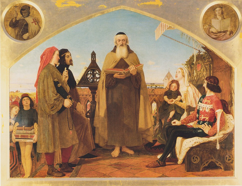 Ford Madox Brown - John Wycliffe reading his translation of the bible to John of Gaunt.jpeg