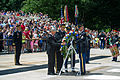 Foreground, from center left, Secretary of the Army John McHugh; U.S. Army Gen. Ray Odierno, the chief of staff of the Army; and Sgt. Maj. of the Army Raymond F. Chandler III lay a wreath at the Tomb of 130614-A-AO884-089.jpg