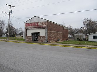Dowell, Illinois - Former company store in Dowell