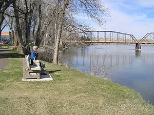 Fort Benton, Montana - The Missouri River as seen from near the Grand Union Hotel, Fort Benton, Montana