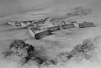 Fort Frederick State Park - Rendering of Fort Frederick as it  may have appeared in the 18th century