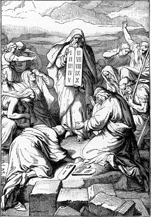Moses with the Two New Tables of Stone (illust...