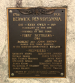 Founders of Berwick PA plaque.png