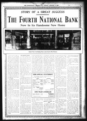 Andrew Young School of Policy Studies - Image: Fourth national bank 1905 ad atlanta constitution