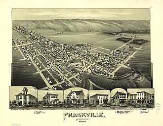 Frackville, Pennsylvania - 1889 bird's-eye view