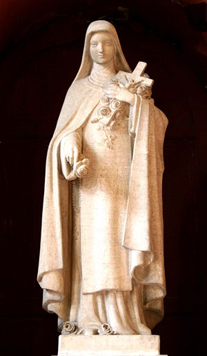 François Carli - Sculpture of Saint Thérèse de Lisieux inside the Église Saint-Cannat in Marseille