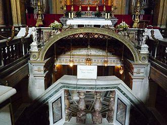Santi Apostoli, Rome - Entrance to the crypt