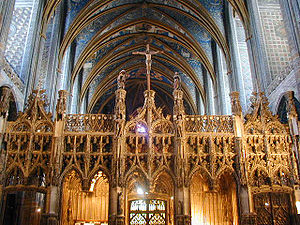Rood - Rood cross on rood screen at Albi Cathedral, France
