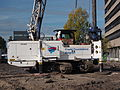 Franki Foundations Belgium, K2 0030, T63, BT42 Cat Drilling rig at Leiden, pic2.JPG