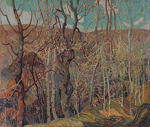 Franklin Carmichael - Image: Franklin Carmichael Silvery Tangle Google Art Project