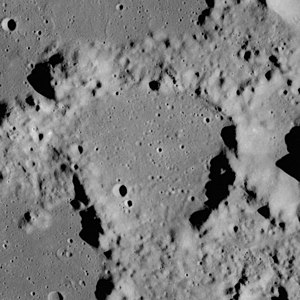 Franz (crater) - Franz under low sun angle, also from Apollo 17