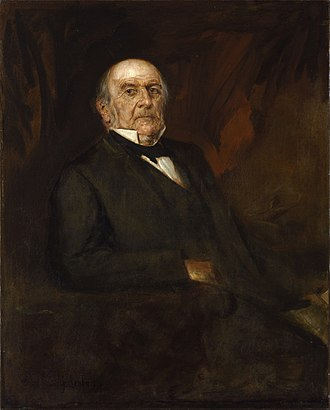 Gladstone in 1886, as painted by Franz von Lenbach. Franz von Lenbach - Portrait of William Ewart Gladstone (1886).jpg