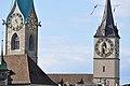 Fraumünster - St. Peter - Quaibrücke 2010-09-10 17-23-14.JPG