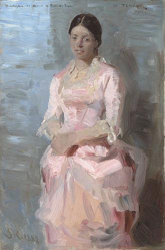 Laurits Tuxen - Frederikke Tuxen (1882), by P. S. Krøyer