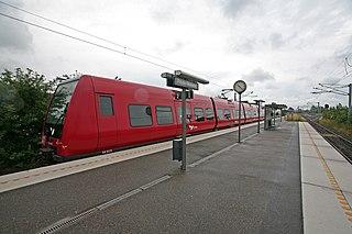 railway station in Frederikssund Municipality, Denmark