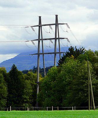Littau - Image: Freileitungsmast