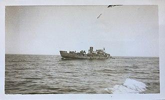 French corvette Alysse - Alysse just prior to sinking, 9 FEB 1942.