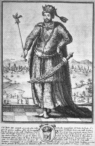 Siamese revolution of 1688 - Contemporary French depiction of the King Narai of Siam