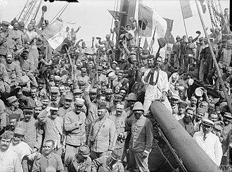 French Army in World War I - French troops going to Gallipoli in 1915