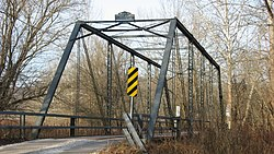 A historic bridge over Stephens Creek in Salt Creek Township