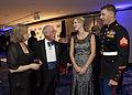 From the left, Martha Barnum; retired Marine Corps Col. Harvey Barnum; Mrs 131025-M-KS211-004.jpg