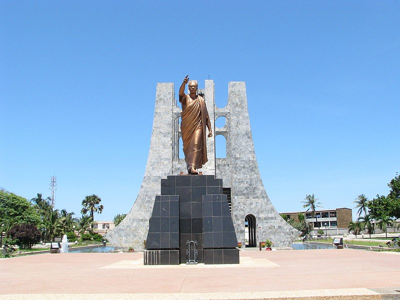File:Front View of Kwame Nkrumah's Mausoleum and Memorial in Accra Ghana, May 2008.jpg