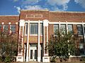 Front entrance, Canton High School, Canton, Mississippi.JPG