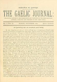 Gaelic revival resurgence ot interest in the Irish language in the 19th century