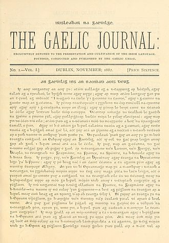 Gaelic revival - The Gaelic Journal, an early organ of the Gaelic revival movement