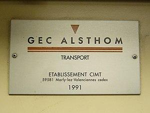 Taipei Metro VAL256 - Image: GEC Alsthom Transport interior plate 1991 in VAL256