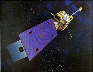 GOES 8 - Artist's impression of a GOES-I series satellite in orbit