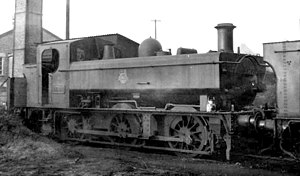GWR 1600 Class - 1621 operational at Stourbridge shed in December 1958