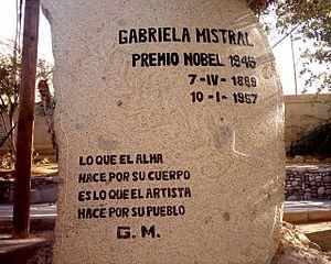Gabriela Mistral Premio Nobel01