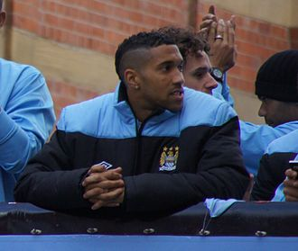Gaël Clichy - Clichy with Manchester City, celebrating winning the Premier League in 2012