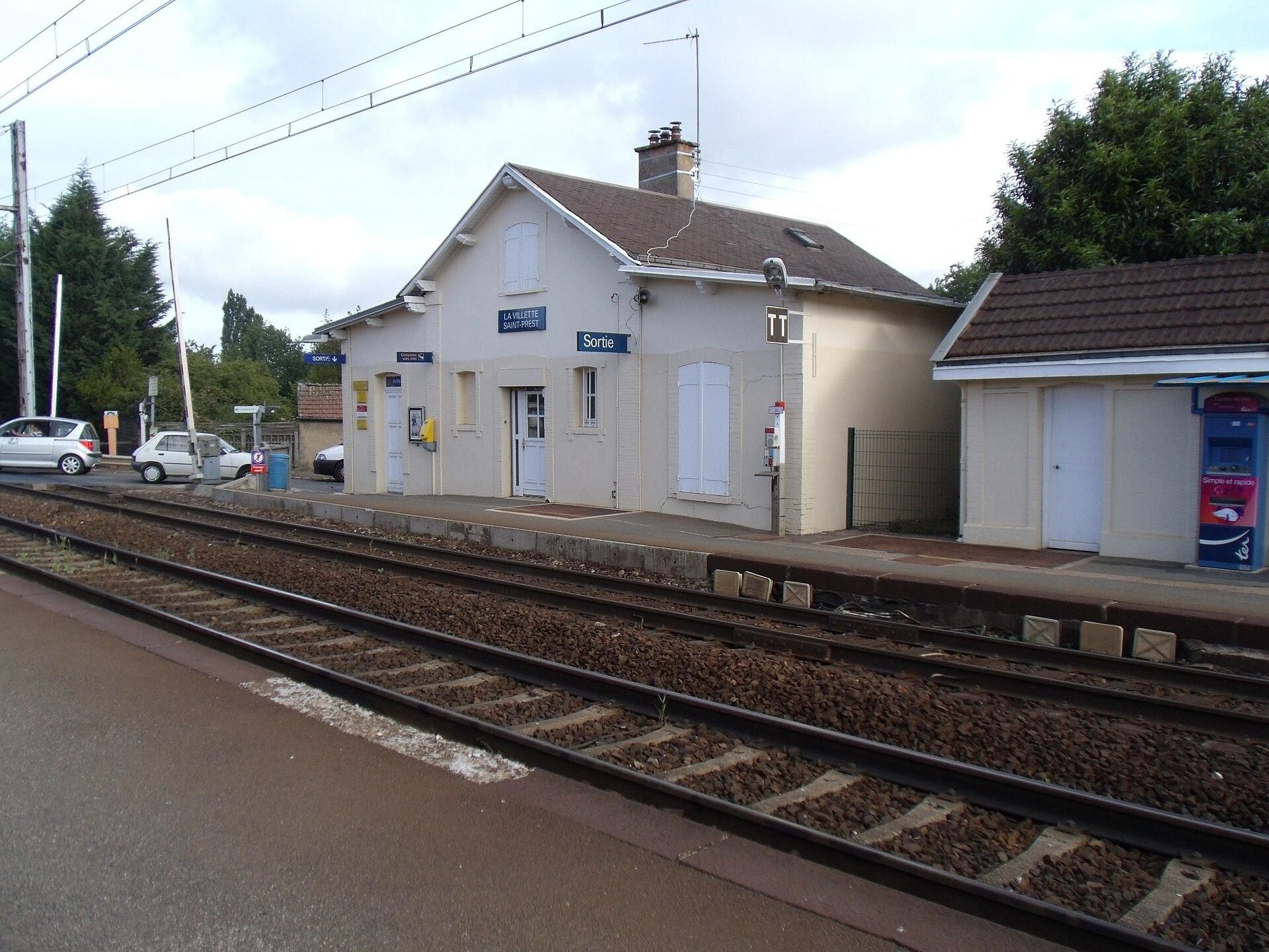 Gare de la villette saint prest wikip dia for Garage de la gare bretigny