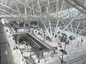 Aéroport Charles de Gaulle 2 TGV - Interior of the station