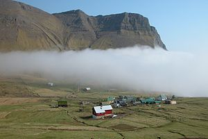 Gásadalur - View of Gásadalur from the west