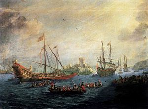 Gaspar van Eyck - Seascape, ca. 1650, now in the Prado