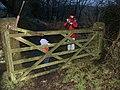 Gate on bridleway, Lantern pike - geograph.org.uk - 1079858.jpg