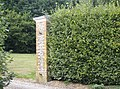 Gate pillar on Cox's Lane - geograph.org.uk - 595024.jpg