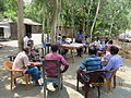 Gathering in a meeting of villagers in an Bangladeshi village 2015 01.jpg