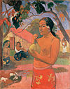 Gauguin, Paul - Woman Holding a Fruit (Eu haere ia oe).jpg