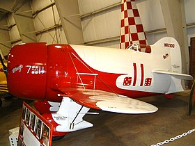 Replica del Gee Bee R-1 in esposizione al New England Air Museum.