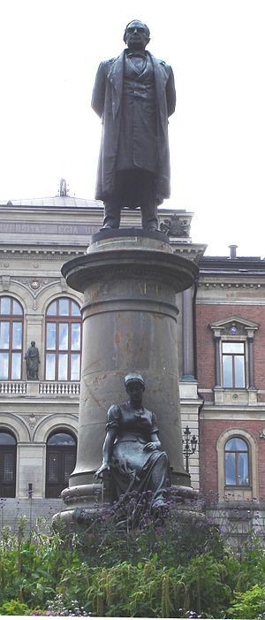 Erik Gustaf Geijer - Statue of Geijer at  Universitetsparken in Uppsala